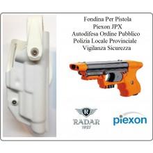 Fondina Polimeri Bianca Per Pistola Piexon JPX Jet Laser e Standard Polizia Locale Provinciale Ordine Pubblico Radar 1957 Art.6416-3606S