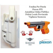 Fondina Polimeri Bianca Per Pistola Piexon JPX Jet Laser e Standard Polizia Locale Provinciale Ordine Pubblico Radar 1957 Art. 6416-3606S