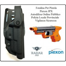 Fondina Polimeri Nera Per Pistola Piexon JPX Jet Laser e Standard Polizia Locale Provinciale Ordine Pubblico Radar 1957 Art.6416-3606SN