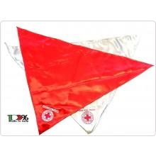 Foulard Sciarpa Triangolo con Ricamo CRI C.R.I. Croce Rossa Italiana Novità Art.NSD-CRI-F