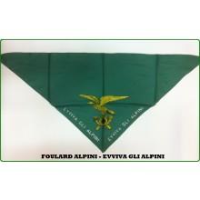 Foulard Fazzoletto Triangolo Alpini Viva Gli Alpini  Art.FAV-F4