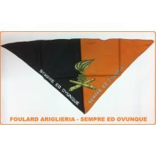 Foulard Fazzoletto Triangolo Artiglieria Sempre ed Ovunque Art.FAV-F8