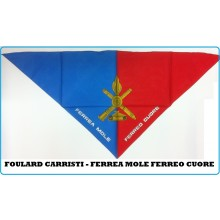 Foulard Fazzoletto Triangolo Carristi Ferrea Mole Ferreo Cuore  Italiana Art.FAV-F3