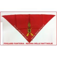 Foulard Fazzoletto Triangolo Fanteria Regina delle Battaglie  Art.FAV-F12