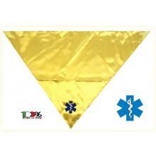 Foulard Sciarpa Triangolo con Ricamo Soccorso 118 Croce Esculappio Art.NSD-CROCE