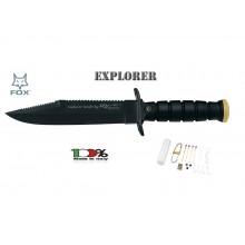 Coltello Militare Sopravvivenza Lama Fissa FOX Italia Survival Explorer  Art. FX697