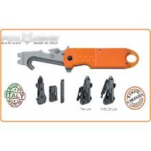 Coltello Multiuso Emergenza Soccorso FOX E.R.T. RESCUE KNIFE ORANGE Art.FX-211