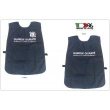 Corpetto Gilet Fratino Gabardine Blu Con Stampa GPG IPS Guardia Particolare Giurate Aquila Nuovo Modello Art. AP4-GPG.IPSA