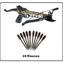 Frecce per Balestra PWC Punta Acciaio 50/80 lbs Caccia Poligono  Art.CF145C