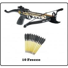 Frecce per Balestra Alluminio Punta Acciaio 50/80 lbs  Caccia Poligono Art.CF145AC