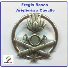 Fregio Basco Metallo Artiglieria a Cavallo Esercito Italiano  Art.NSD-F-36