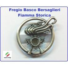 Fregio Basco Bersaglieri Fiamma Storica  E.I. Esercito Italiano da Collezione Art.NSD-F-18