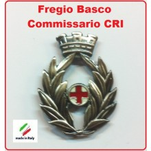 Fregio Basco Militare Commissario Croce Rossa Italiana Art.NSD-F-41
