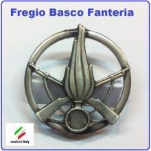 Fregio Basco Militare Metallo Fanteria Esercito Italiano  Art.NSD-F-42