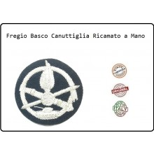Basco Spagnolo Nero Bordo Tessuto Con Fregio Ricamato a Mano Carristi Ferrea Mole Fav Italia Art.FAV-BAS4