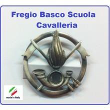 Fregio Basco Militare Metallo  Scuola Cavalleria Esercito Italiano Art.NSD-F-47