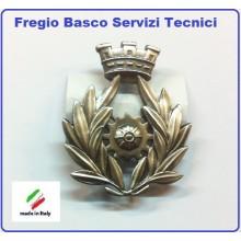 Fregio Basco Metallo Servizi Tecnici  E.I. Esercito Italiano  Art.NSD-F-20