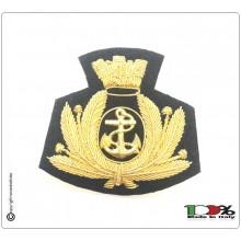 Fregio per Berretto Tesa e Berretto Donna Canuttiglia Ricamato a Mano Marina Militare Italiana cm 7.00x7.50 Art.MAR-01