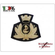 Fregio per Berretto Tesa Canuttiglia Ricamato a Mano Marina Militare Italiana Art.MARINA-1