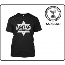 T-shirt Maglietta Mossad IT'S NEVER AN ACCIDENT Art.MOSSAD