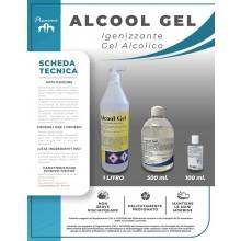 Gel Igienizzante per Mani Alcol Gel Igienizzate Gel Acrilico Formato 1 litro - 500ml - 100ml  Alcol 70/71% Piemme Art.PM-1
