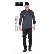 Giacca Cuoco Chef Sartoriale Antimacchia Islanda Jeans con Toppe Pangea Art.IT0302