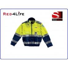 Giubbetto Giallo Blu Protezione Civile Modello Red4Life Gruppo Siggi Art.08GB0077