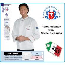 Giacca Cuoco Chef  Bilbao Superdray Federazione Italiana Cuochi FIC Prodotto Ufficiale By Isacco Art.059398