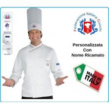 Giacca Cuoco Chef Donna PANAMA Slim Federazione Italiana Cuochi FIC Prodotto Ufficiale By Isacco Art.058297