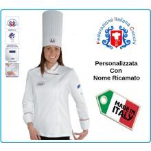 Giacca Cuoco Chef Donna Ledy SNAPS Federazione Italiana Cuochi FIC Prodotto  Ufficiale By Isacco Art. af1f536bcbf5