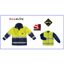 Giaccone alta Visibilita' EN471 classe 3 - EN343 classe 3 Protezione Civile Gore-Tex ® Red4Life Gruppo Siggi Art.08GI0116