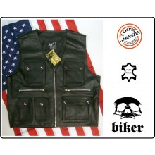 Gilet Biker Pelle Tipo Harley Davidson Ottimo per Patch HD Shadow Guzzi Triuph Vera Pelle  Art.01068
