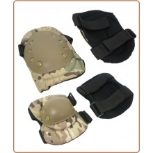 Ginocchiere + Gomitiere Multicam Militare Esercito Soft Air Art.G1MULT