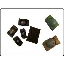 Ginocchiere + Gomitiere Verde OD Nere Sabbia  S.W.A.T. Super Imbottite Esercito Soft Air Art.JQ02T