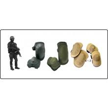 Ginocchiere + Gomitiere Colori Nero Verde Sabbia Militare Esercito Soft Air Art.G1
