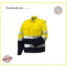 Giubbino Alta Visibilità AV Bicolor Modello Protezione Civile Soccorso Personalizzato Art.8445-MOD