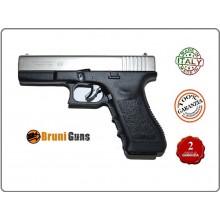 Pistola a Salve 8mm Bruni Glock G17 Silver Bicolor Cromata Opaca Bruni Art.RP032315
