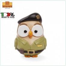 Gufo Gufetto Goofi Esercito Italiano Militare Idea Regalo o Bomboniera Collezione Porta Fortuna EGAN Prodotto e Dipinto a Mano in Italia Art.ML18FA/2EI
