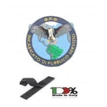 Toppa Patch Ricamo Con Velcro cm 8.00 Guardia Particolare Giurata Incaricata di Pubblico Servizio GPG IPS GPGIPS Art. GPG-XX