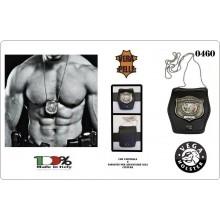 Porta Placca da Collo in Vera Pelle GPG-IPS Guardia Particolare Giurata - Incaricato di Pubblico Servizio ® Art.GPG-23