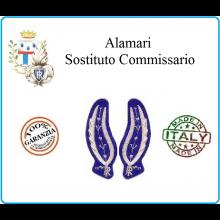 Alamari uniforme Sostituto Commissario Ufficiali Inferiori  Ricamati in Canottiglia  Art.PP-ALSC
