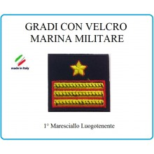 Grado a Velcro Giubbotto Navigazione Marina Militare 1 Maresciallo Luogotenente  Art.M-15
