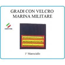 Grado a Velcro Giubbotto Navigazione Marina Militare Maresciallo Art.M-14