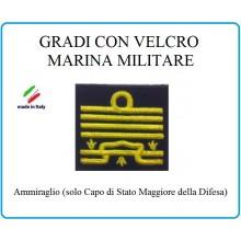 Grado a Velcro Giubbotto Navigazione Marina Militare Ammiraglio  Art.M-27