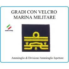 Grado a Velcro Giubbotto Navigazione Marina Militare Ammiraglio di Divisione  Art.M-25