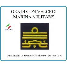 Grado a Velcro Giubbotto Navigazione Marina Militare Ammiraglio di Squadra Art.M-26