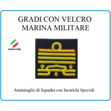 Grado a Velcro Giubbotto Navigazione Marina Militare Ammiraglio  Squadra I.S. Art.M-29