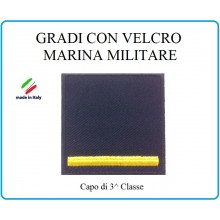 Grado a Velcro Giubbotto Navigazione Marina Militare Capo 3 Classe  Art.M-11