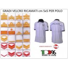 Grado a Velcro Fondo Bianco per Polo Marina Guardia Costiera Capitaneria di Porto SOLO DA NOI Art.GC-GRADO
