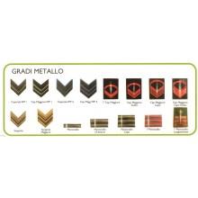 Gradi Metallo a Vite Esercito Italiano Scegli il Tuo Grado Art.NSD-LU6